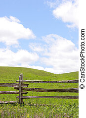 rolling hills fence - Rolling hills and split rail fence
