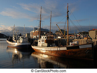 Fishing boat in Norwegian harbour