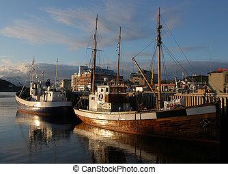 Fishing boat in Norwegian harbour