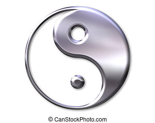 yin and yang symbol - Illustration with yin and yang symbol...