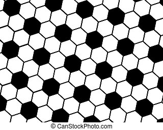 soccer ball pattern - Background of black and white soccer...