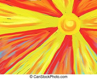 hot sun rays - sun rays painted background