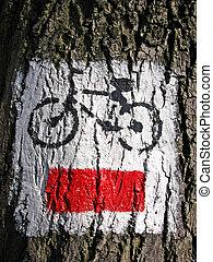 Paint on tree