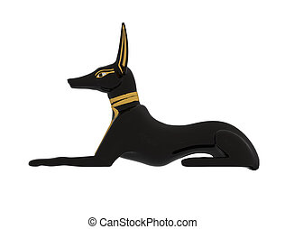 anubis - ancient egypt sculpture