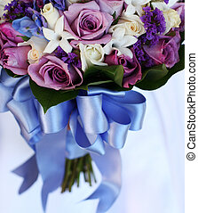 Bridal bouquet of flowers - bridal bouquet of blue and...