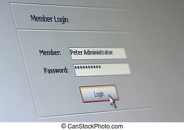 member login 01 - Login window under windows xp
