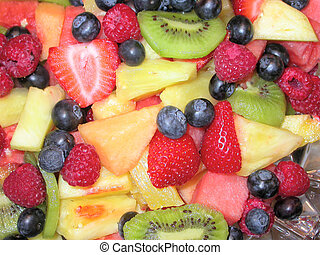 Fruit Salad - An assortment of berries and fruit in a fruit...