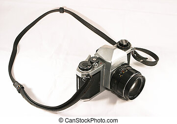Old manual camera - A vintage, old, reliable mechnical...