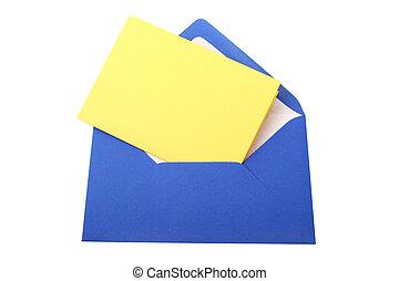 Envelope - Digital photo of a blue envelope