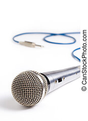 Studio microphone - A recording studio microphone with its...