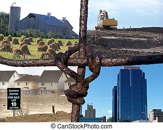 Farm Fence Collage