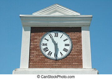ClockTower - A clock tower reads 11:30