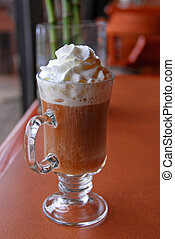 Coffee whipped cream - Coffee with alcohol and whipped cream