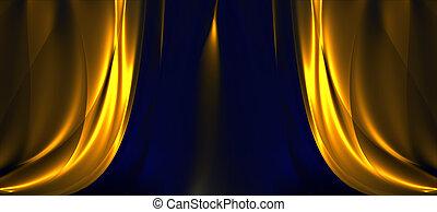 Curtain pattern - Wide open curtain pattern