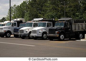 Dump Trucks - Shiny new dumptrucks for sale.
