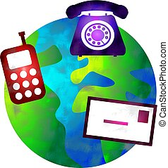 communication world - a world with different forms of...