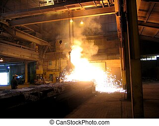 Smelting Industry - Smelting industry Factory hall....