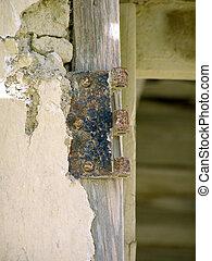 Rusty Door Hinge - Door Hinge of Abandoned Ghost Town...