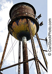 Water Tower - Old Rusty Water Tower