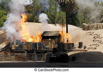 Ammunition Dump - Burning Ammunition Dump