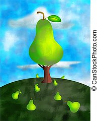 pear tree concept illustration