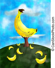 banana tree concept illustration