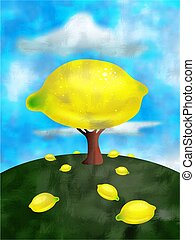 lemon tree concept illustration