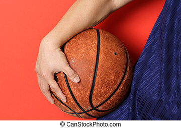 Basketball player - A boy with a basketball