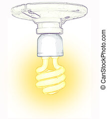 blub illustration - a glowing light bulb