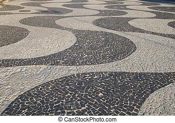 Copacabana sidewalk - Copacabana beach