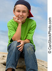 Happy Youth - Smiling contented child