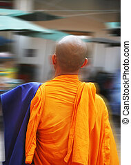 Monk on the move