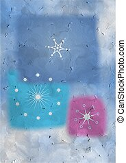 textured snowflakes - snowflakes card design made to look a...