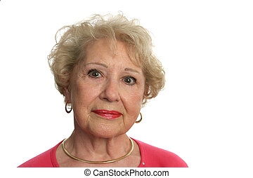 Lovely Senior Woman - A beautiful senior woman with an...