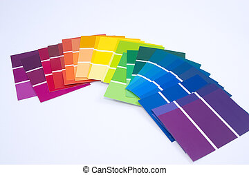 Isolated Paint Samples - All Colors - Paint Samples