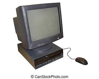 Desktop Computer - Office Desktop Computer with black CRT...