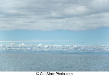 Lake Ontario - the view on Lake Ontario, Canada