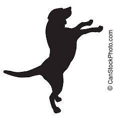 dog silhouette illustration