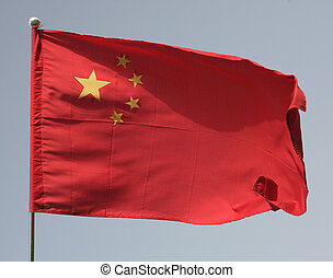 Chinas flag - The flag of the Peoples Republic of China...