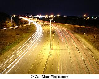 night highway - san antonio highway 281 at night