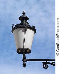 Street light on blue sky background