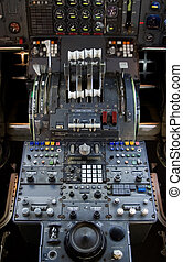 747 Controls - The complex throttle controls in a 747...