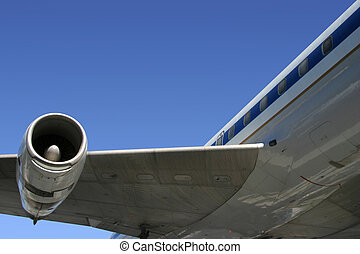 Airliner Detail - A section of a jumbo jet, viewed from...