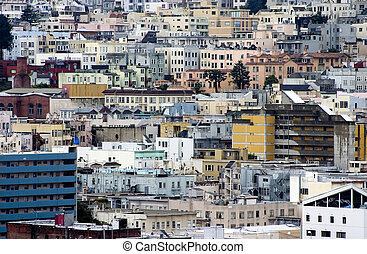 Dense Urban Buildings 1 - A dense collection of city...