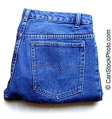 Blue jeans - Folded blue jeans mans pants