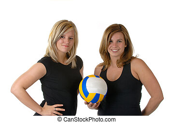Volley Ball Team - Two Female Volleyball Team Members