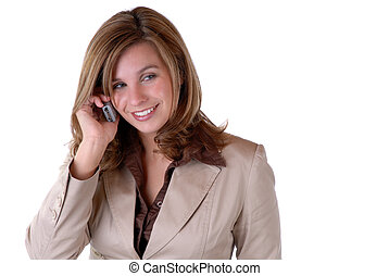 Young Business Woman - Attractive Young Businesswoman...