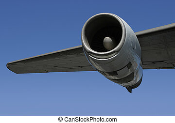 Jet Engine Wing 2 - A section of a jumbo jet, viewed from...