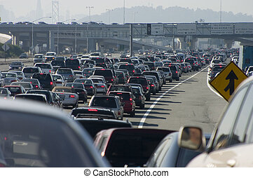 Major Traffic Jam 2 - Rush-hour traffic approaching the...