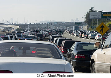 Major Traffic Jam 3 - Rush-hour traffic approaching the...